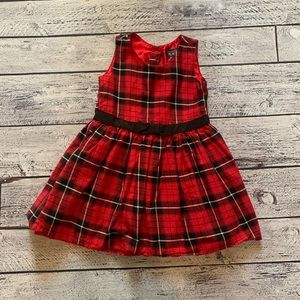 Children's place plaid holiday dress